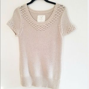 American Eagle Short Sleeve Sweater Small